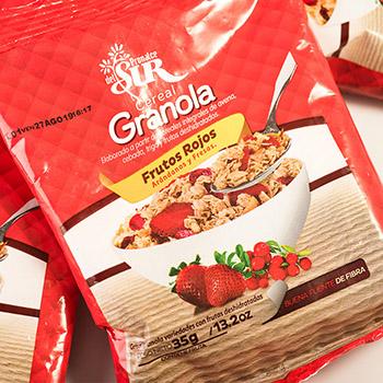 Six pack Cereal granola frutos rojos PRONALCE DEL SUR 6und 35g